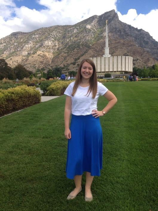 Sister Joslin  MTC drop-off day